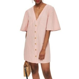 New Topshop Angel Sleeve Shift Dress